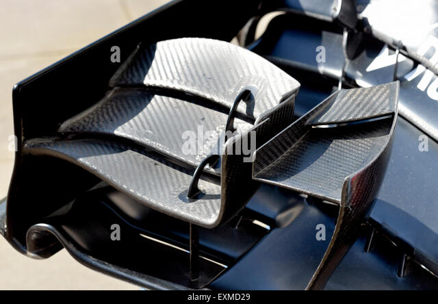 2014 Williams Formula One car - front wing detail - Stock Image