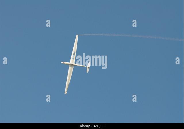glider sailplane flight aircraft air show air display  glider sailplane - Stock Image