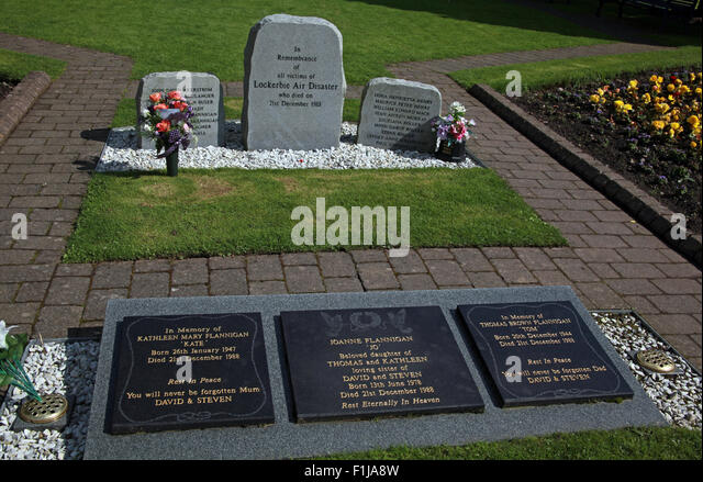 Lockerbie PanAm103 In Rememberance Memorial Stones Flannigan,Scotland - Stock Image