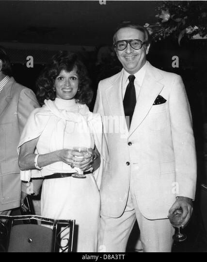 Dr Robert C Atkins and Mrs Myrna Firestone at Hialeah Race Track, Miami, Florida, 1976 - Stock Image