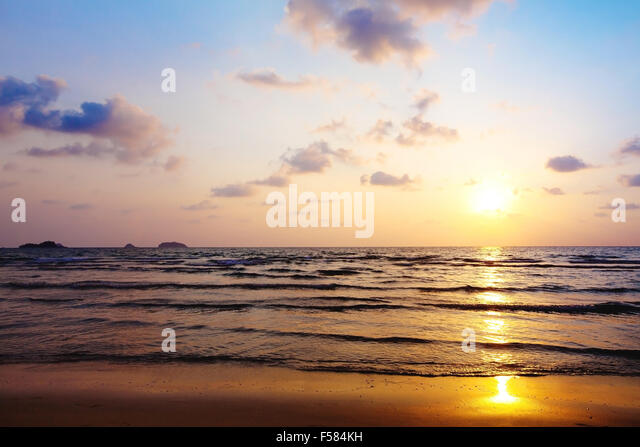 abstract beach background - Stock Image