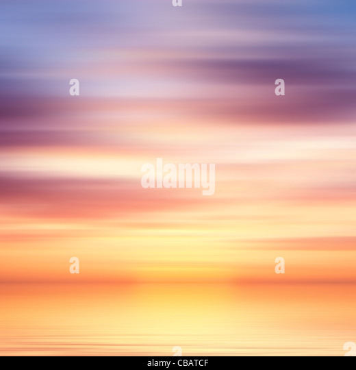 Beautiful colorful water and sky abstract background - Stock Image