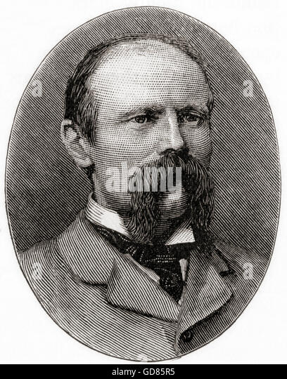 Sir Benjamin Baker, 1840 – 1907.  English civil engineer. - Stock Image