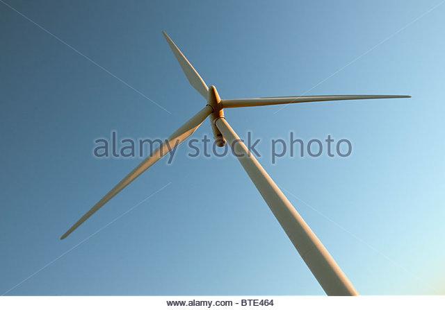Wind turbine against sky - Stock-Bilder