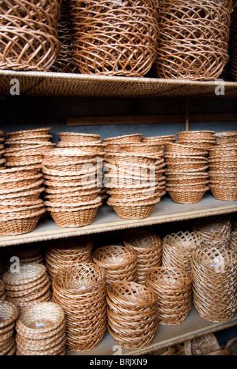 Wickerwork in Camacha - Madeira - Stock Image