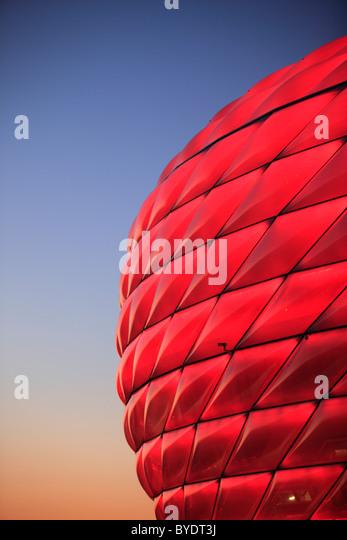 Allianz Arena football stadium, Munich, Bavaria, Germany, Europe - Stock Image