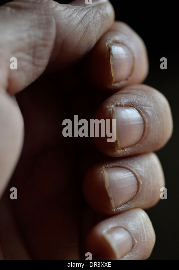working mans hand - Stock Image