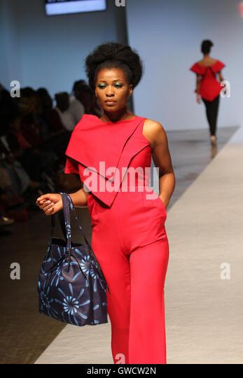 LONDON, UK - September 10: Lady Bibi is showcased at the Africa Fashion Week London. © David Mbiyu/Alamy Live - Stock Image
