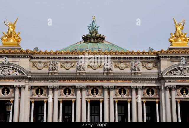 front facade, Opera, Paris, France - Stock Image