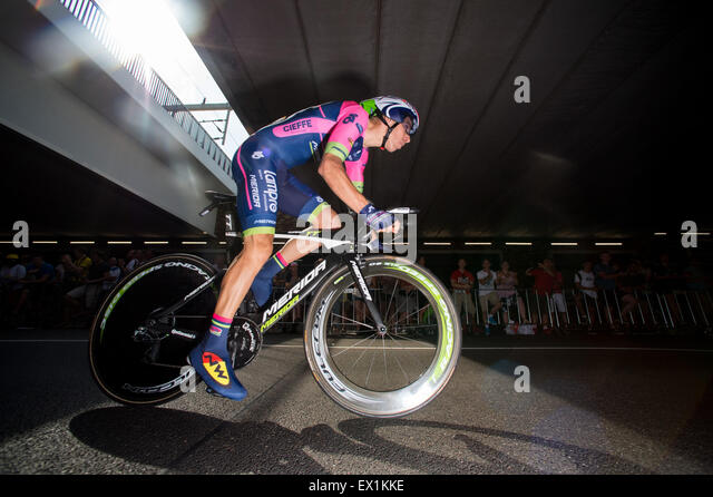 Utrecht, Netherlands. 04th July, 2015. Rui Costa (Lampre) during the Individual Time Trial 2015 Tour De France Grand - Stock-Bilder