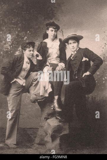 Victorian Queer Women - Stock Image