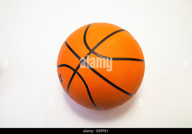 Close up of a basketball - Stock Image