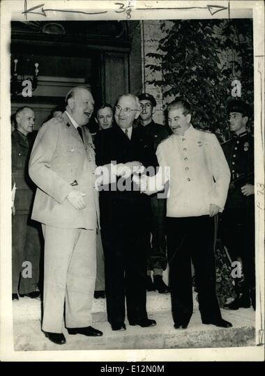 Feb. 24, 2012 - Sir Winston celebrates his 90th birthday. Sir Winston Churchill celebrates his 90th birthday on - Stock Image