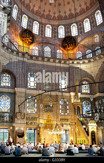 Interior of the Blue Mosque,Eminonu,Istanbul,Turkey - Stock-Bilder