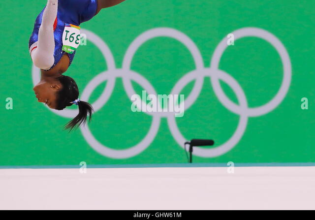 Rio de Janeiro, Brazil. 11th Aug, 2016. Simone Biles (USA) Artistic Gymnastics : Women's Individual All-Around - Stock-Bilder