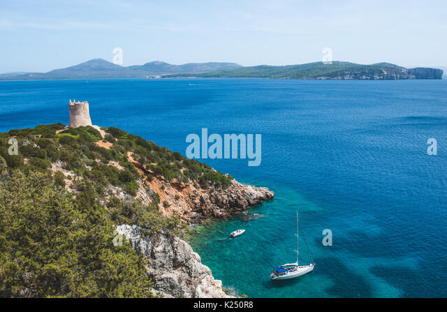 Sardinia, Italy. 20th Aug, 2017. The Sardinian sea and coast during summer period Photo: Alessandro Bosio/Pacific - Stock Image