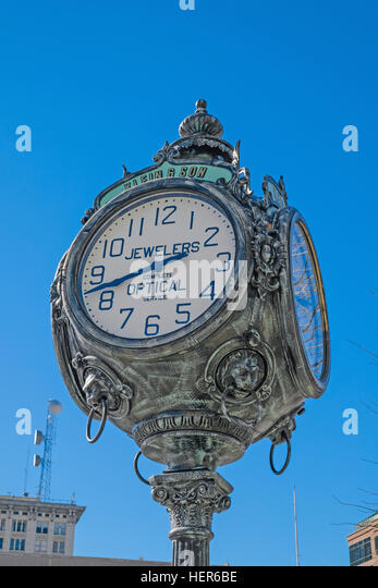 Town Clock in Montgomery, Alabama. - Stock Image