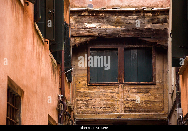 Low angle view of a old building, Venice, Veneto, Italy - Stock-Bilder