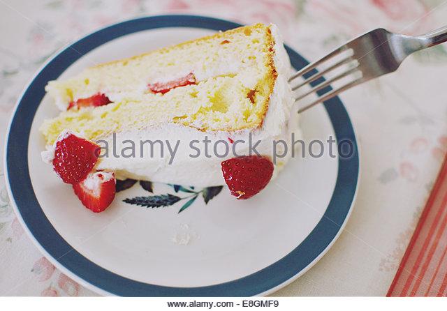 United Kingdom, England, West Midlands, Warwickshire, Stratford-upon-Avon, Strawberry Shortcake - Stock Image