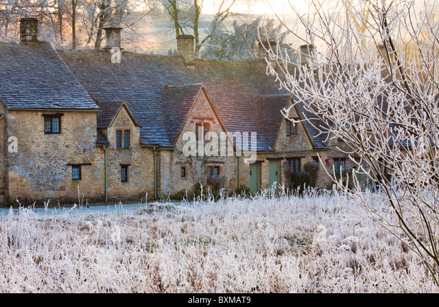 Winter Dusk Village Uk Stock Photos Winter Dusk Village Uk Stock Images