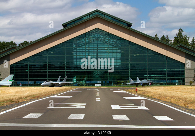 Evergreen Aviation and Space Museum located in McMinnville, Oregon, USA. - Stock Image