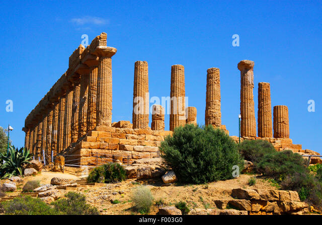 Temple of Hera, Archaeological Area of Agrigento, Italy, Sicilia, Agrigent - Stock Image