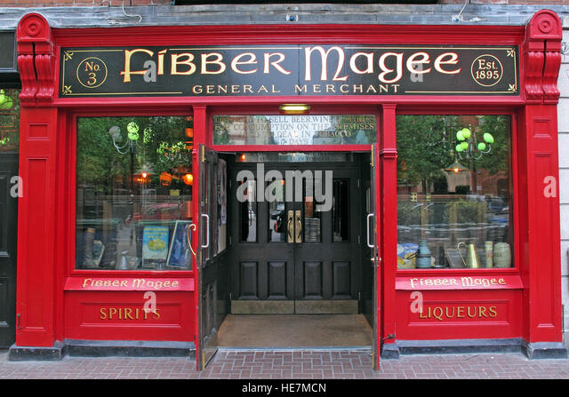 Fibber Magee,General Merchant,pub,Belfast,Northern Ireland,UK - Stock Image