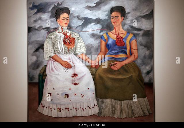 Frida Kahlo. The Two Fridas. 1939. Oil on canvas. Mexico celebrates 100th anniversary of Frida Kahlo's birth - Stock Image