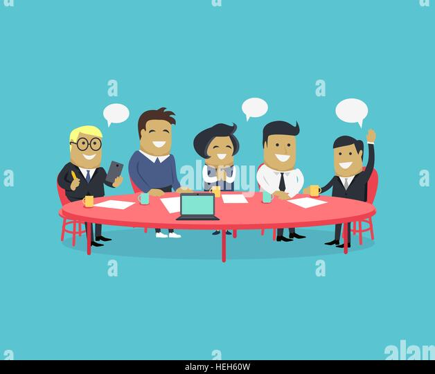 Meeting and discussion briefing. Business meeting, conference and meeting room, business presentation, office teamwork, - Stock-Bilder