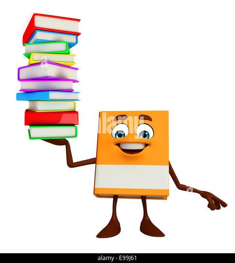 Cartoon Characters Reading Books : Reading book cartoon character author stock photos