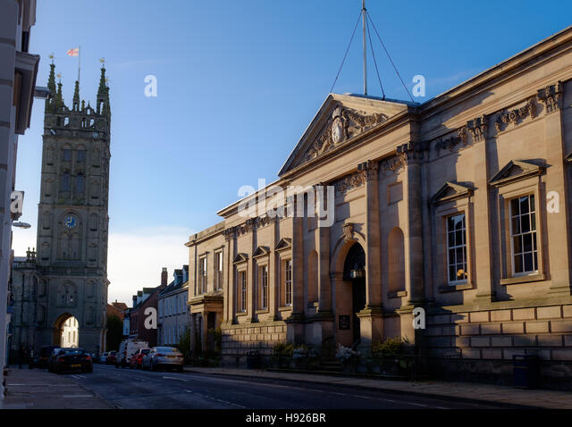 Old Shire Hall, Warwick, Warwickshire, UK - Stock Image