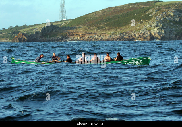 gig racing on the isles of scilly - Stock Image