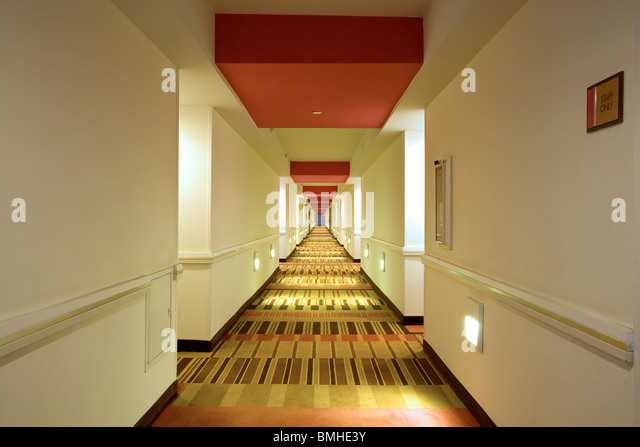 The corridor at the Flamingo Hotel Las Vegas - Stock Image