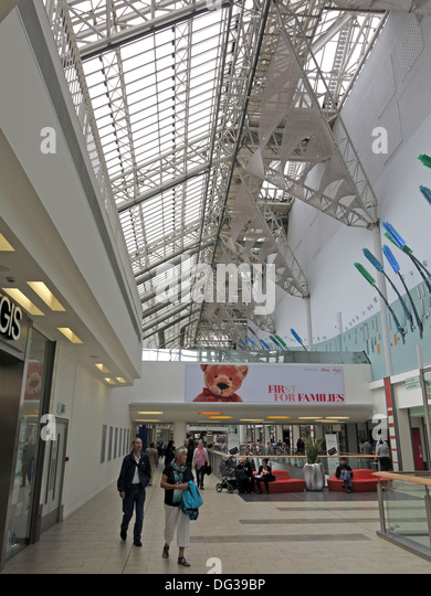 Interior of St Enoch Shopping retail shopping centre Glasgow - Stock Image
