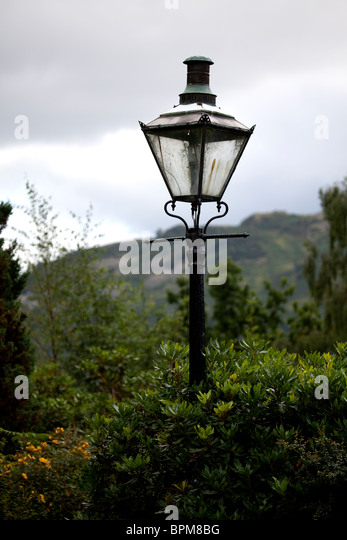 Lovely Old Gas Lamp Post Converted To Electricity In The Gardens Of A Private  Residence Overlooking The