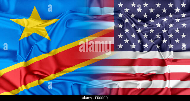 USA and Democratic Republic of the Congo - Stock-Bilder