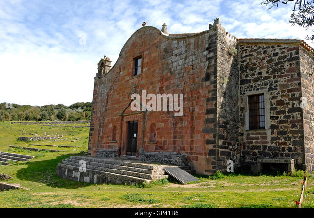 San Costantino church, Sedilo, Sardinia - Stock Image