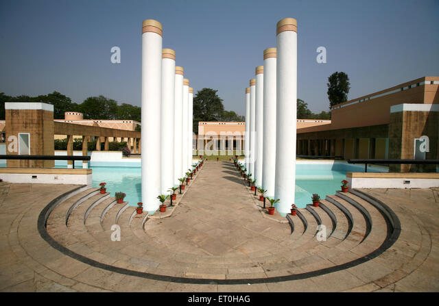 Artistically designed Rusi Modi centre for excellence in complex of Tata Steel in Jamshedpur Tata Nagar ; Jharkhand - Stock-Bilder