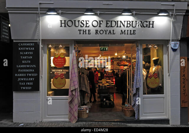House of Edinburgh tourist shop, The Royal Mile, Scotland, UK - Stock Image