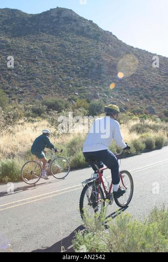 Albuquerque New Mexico Sandia Heights bikers T - Stock Image