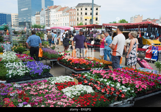 Gare du Midi general market, Brussels, Belgium, Europe - Stock Image