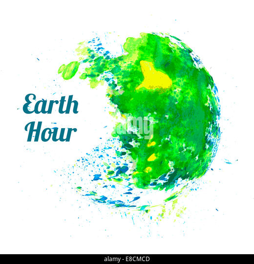 Illustration for Earth Hour - Stock-Bilder