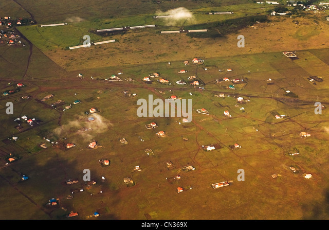 Aerial view near Nairobi, Kenya, Africa - Stock Image