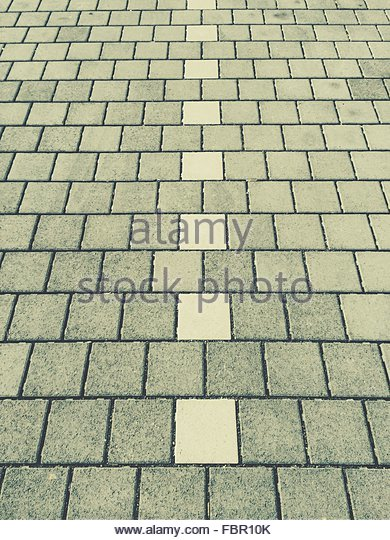 Detail Shot Of Stone Tiled Road - Stock-Bilder