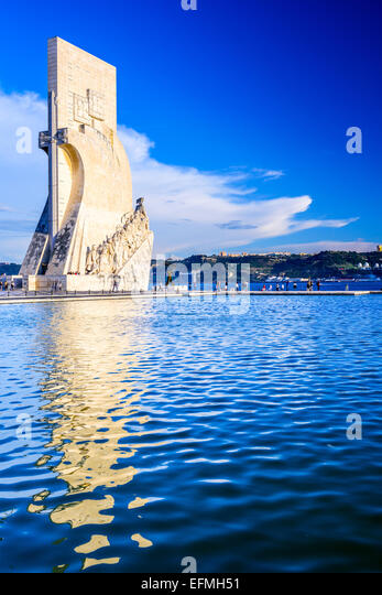 Belem, Lisbon, Portugal at the Monument to the Discoveries. - Stock-Bilder