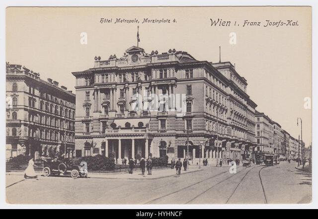 Hotel Metropole & Franz Josefs-Kai, Vienna, Austria - Stock Image