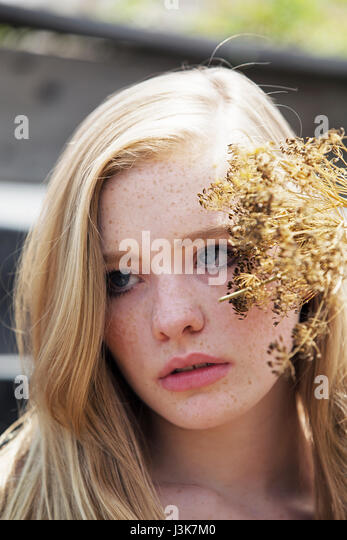 Portrait of a beautiful young woman. - Stock Image