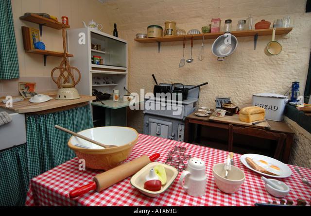 1940s kitchen - Stock Image