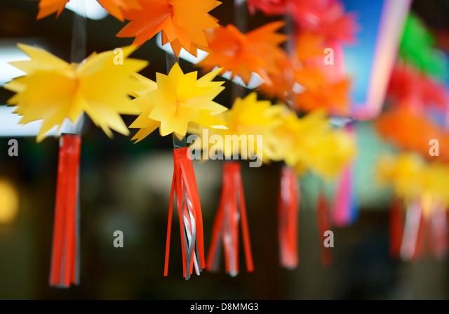 decorative trimming hanging in narita, japan - Stock Image