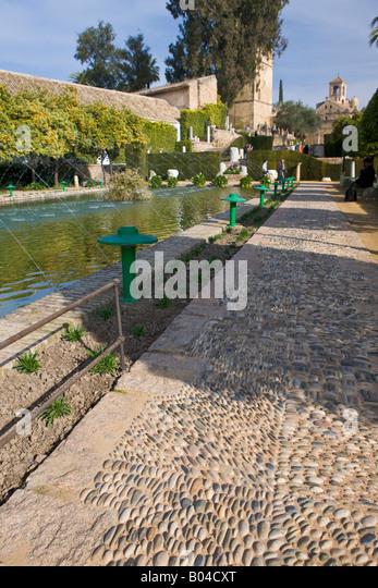 Gardens Alcazar Reyes Cristianos Stock Photos & Gardens Alcazar Reyes Cri...